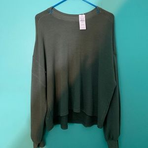 American Eagle Military Green Sweater